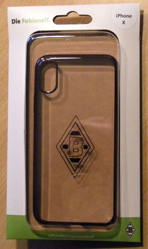 Borussia Mönchengladbach Backcover Laser Case für Apple iPhone X silber transparent  UVP 19,95